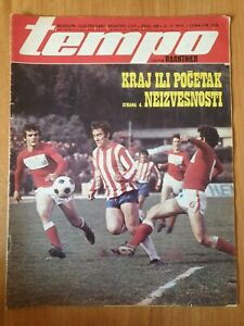 sport magazine TEMPO 369 football Red Star Belgrade cover Johan Cruyff 1973