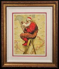 Vintage Norman Rockwell  Extra Good Boys & Girls Santa Claus Artist Proof Signed
