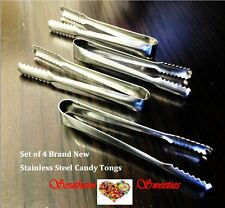 4 x CANDY TONGS lollies candy buffet serving Stainless Steel FREE POSTAGE