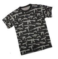 GUNS T-Shirt Navy Army Marine Corps M-4 AK-47 9MM .45 Cal USMC Police SWAT S-3X