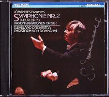 Christoph von DOHNANYI Signiet BRAHMS Symphony No.2 Haydn Variationen TELDEC CD