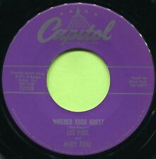 LES PAUL & MARY FORD (Whither Thou Goest / Mandolino ) POP  45 RPM  RECORD