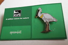 R.S.P.B. British Wildlife A Million Voices For Nature Spoonbill Badge BNOC