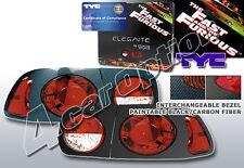 TYC Tail Light 92 93 94 95 Civic EG 2dr coupe 4dr sedan Black Carbon #81-5619-01