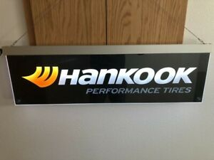 Original Hankook Performance Tires Advertising Sign Lighted w/ Ac Adapter
