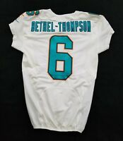 #6 McLeod Bethel-Thompson of Miami Dolphins NFL Locker Room Game Issued Jersey