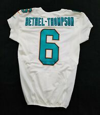 #6 McLeod Bethel-Thompson Authentic Miami Dolphins Game Issued Jersey