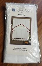 "Saturday Knight Limited Kate Swag Pair, 57"" x 28"" Clove Brown White NEW Poly"