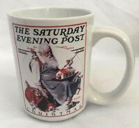 Norman Rockwell 2002 The Saturday Evening Post Coffee Mug Christmas Santa