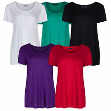 Marks and Spencer Viscose Short Sleeve T-Shirts for Women