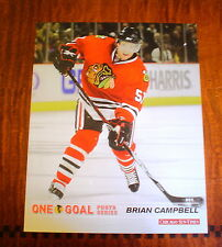 "BRIAN CAMPBELL PHOTO 8"" x 10"" GLOSSY COLOR CHICAGO BLACKHAWKS ONE GOAL SERIES"
