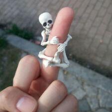 White Movable Bones Pose Skeleton Human Model Mini Figure Toy Articles