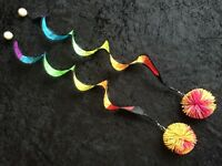 PoiPoi 'Rainbow Spiral Stringy Things' Poi Set - Made with Soft Koosh Balls