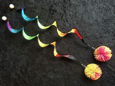 PoiPoi 'Rainbow Spiral Stringy Things' Poi Set - Made with Soft Koosh Balls