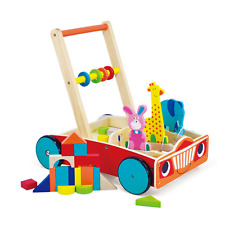 Wooden Baby Walker with Shapes Animal Activity Push Along Toddler Toy 12+ months
