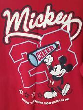 Main Street Disney Mickey Mouse Cheer Squad Size XL Tee T-Shirt Cheer Megaphone