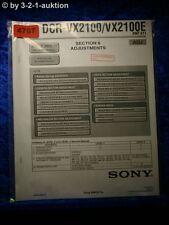 Sony Service Manual DCR VX2100 /VX2100E ADJ Digital Video Camera (#4787)