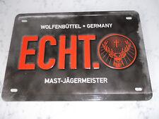 JÄGERMEISTER BLECHSCHILDER  JÄGERMEISER ECHT RUDY 13,5 cm 20,0cm