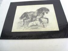 """GUILLAUMET Gustave(1840-1887)""""LE PUR - SANG"""" - DESSIN DU 19è AU CRAYON NOIR (G)"""
