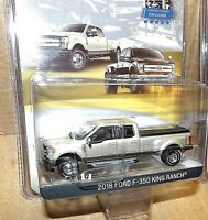 Greenlight White Gold 2018 Ford F-350 King Ranch truck Exclusive dual wheels