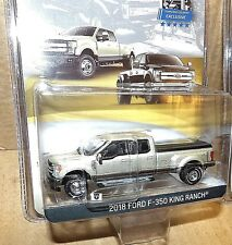Greenlight 2018 Ford F-350 King Ranch White Gold truck Exclusive dual wheels
