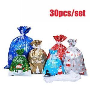 30st Weihnachten Wiederverwendbare Kordelzug Wrap Geschenk Party Taschen
