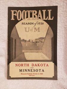 VERY RARE Minnesota Gophers vs. North Dakota 1926 Football Program, NMMT!!
