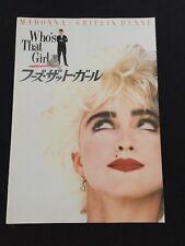 Madonna Japan Movie Program