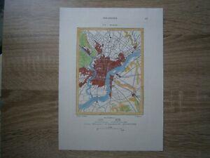 1892 Perron map PHILADELPHIA, PENNSYLVANIA (#52)