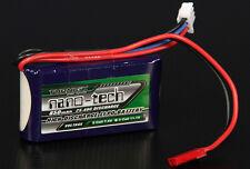 New Turnigy nano-tech 850mAh 7.4v 2S 25C-40C Battery Lipo JST Trex Guai Lama