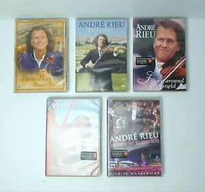 Lot of 5 x Andre Rieu DVD's The Flying Dutchman, Romantic Paradise, Dreaming....