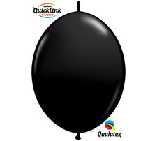 "20ct. ONYX BLACK Quicklink 6"" Latex Helium Linking Balloons ARCHES ARBORS"
