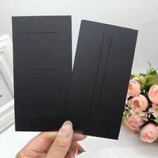 100pcs Black Hair Clips Ornament Bow Jewelry Display Packaging Paper Cards