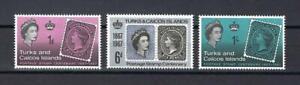 Turks & Caicos Islands 1967 Sc# 172-74 set Centenary of Islands stamps MNH