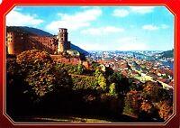 Heidelberg , Blick von der Schloßterasse  , Ansichtskarte, gelaufen