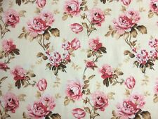 Polycotton Fabric Craft Ditzy FLOWER FLORAL PINK Metre Material Special Offer