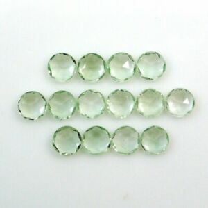 Awesome Lot Natural Green Amethyst 7X7 mm Round Rose Cut Loose Gemstone AI-30