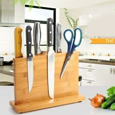 Magnetic Knife Holder Bamboo Knife Rack Kitchen Bar Storage Block Knife Stand