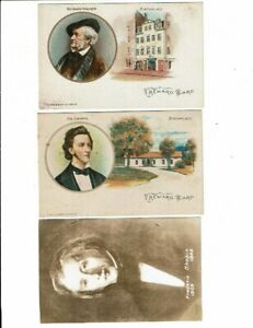 3 Card Lot, People, Richard Wagner, Fr. Chopin, Reward Cards for Students, Music