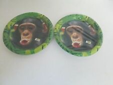 Animal Planet Monkey Paper Dessert Plates 8pk - Lot of 2 Pks -- Party Supplies
