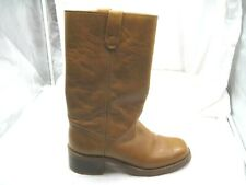Vintage Sears tan brown beige western cowboy work boots Mens 9.5D 42.5 shoes