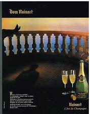 Publicité Advertising 1986 Le Champagne Dom Ruinart