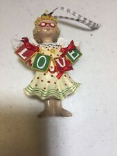 "Mary Engelbreit Miniature Ornament Figurine Girl ""Love�"