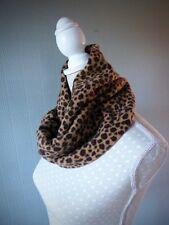 Animal print snood, warm fleece animal print cowl, loop scarf, animal neckwarmer