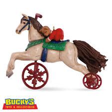 A Pony for Christmas 2016 Hallmark Ornament 19th Vintage Toy Teddy Bear Horse