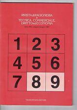 RIVISTA DI RAGIONERIA E TECNICA COMMERCIALE, DIRITTO ED ECONOMIA - N.8 - 05 1981
