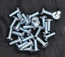 10-32 x 1/2 Slotted Pan Head Machine Screws - Bright Zinc Plated - Steel