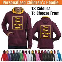 Personalised Childs Hoodie Custom Printed Kids Hoody Childrens Hooded Varsity