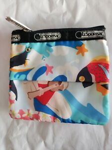 mint LESPORTSAC Hawaii hula Tissue zip Pouch
