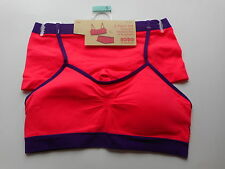 Womens Nobo Seamless Padded Sports Bra & Boyshort Set, 2 Piece Set Size Small